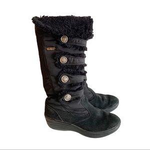 Pajar Black Warm Winter Sherpa Boots Zip Up 6